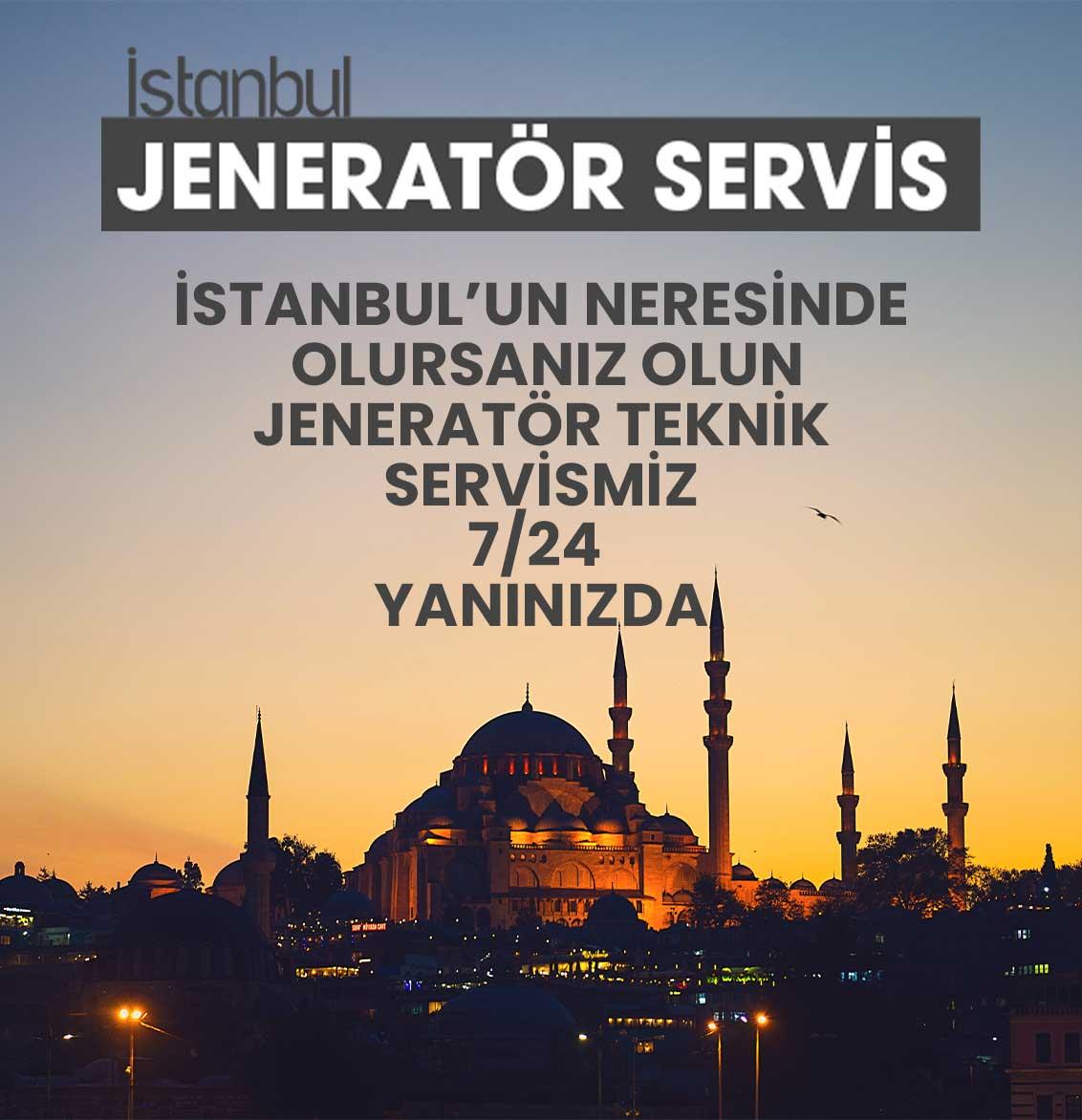 istanbul jeneratör servis